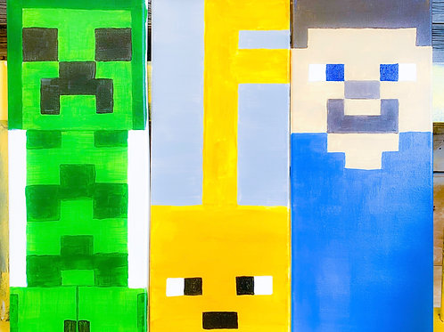 1 Day Camp: June 24th. MINE Craft Painting!