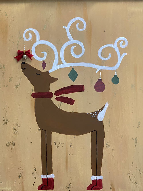 Sparkle the Reindeer Painting Event! Sun Dec 20th 1:30pm
