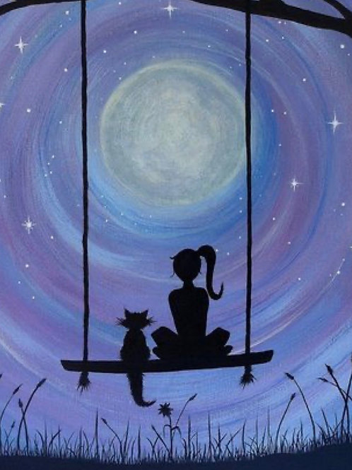 1 Day Camp: August 5th Moonlight HangoutPainting