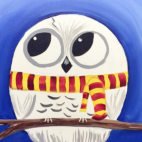 1 Day Camp: July 29th Harry as Hedwig Painting
