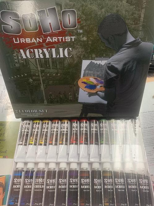 Soho Acrylic 24 Color Paint Set
