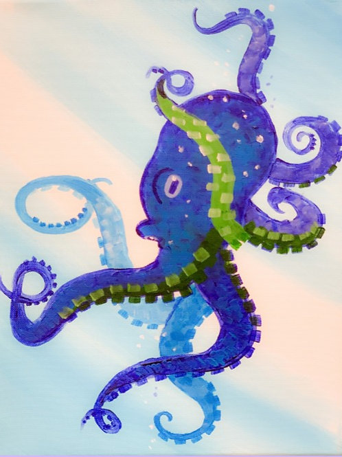 1 Day Camp: July 16th. Cool Colored Octopus
