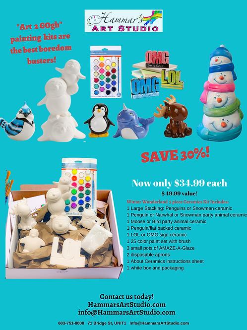 Winter Wonderland Ceramics To GOgh Kit