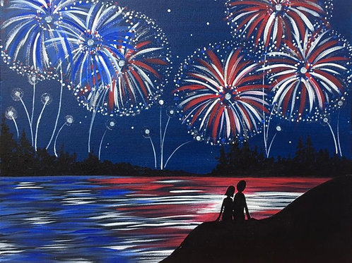 1 Day Camp: June 30th Patriotic Reflections Painting 16x20