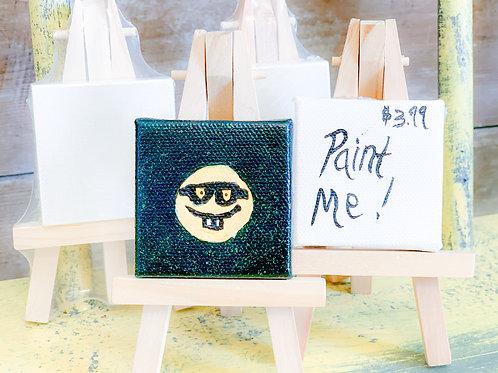 2x2 itty bitty mini canvas & easel