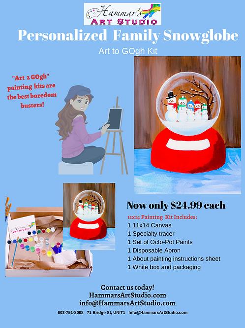 Personalized Snowglobe Art to GOgh Kit!