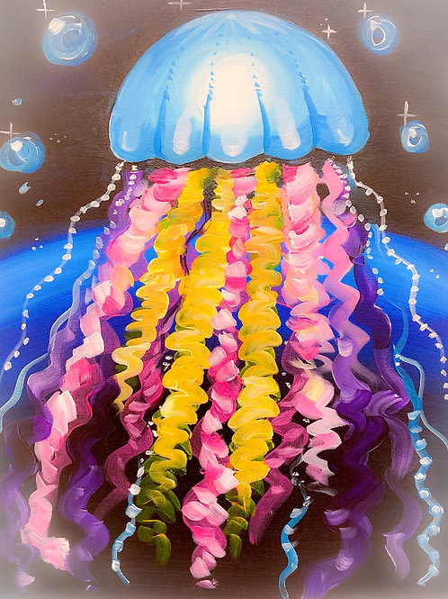 1 Day Camp : July 23rd Jelly-DancerPainting