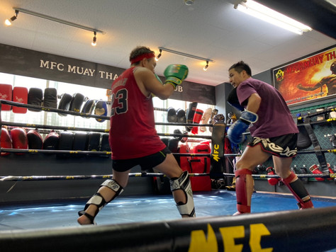 Sunday light sparring at MFC Kyobashi Gym
