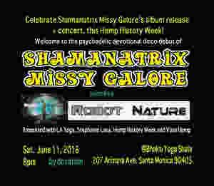 Shamanatrix Missy Galore album release party flyer w info