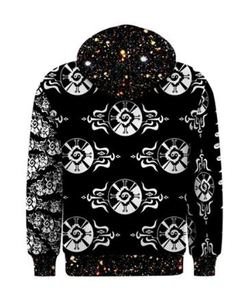 Shamanatrix Galactic Star*Gate * Mens Hooded Jacket
