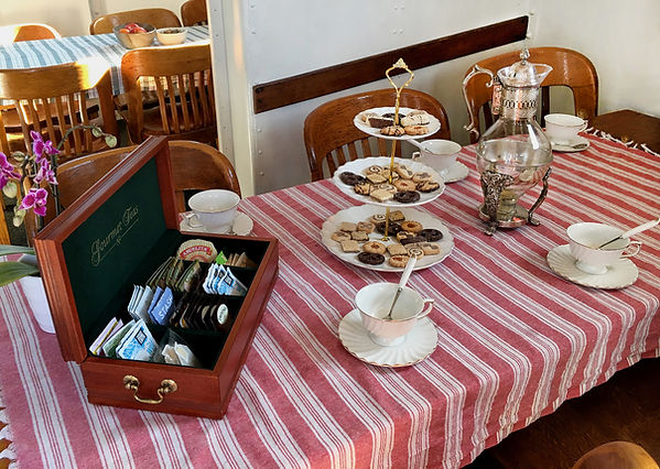 Tea service included with tour!