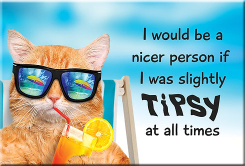TIPSY - Button Style Magnet