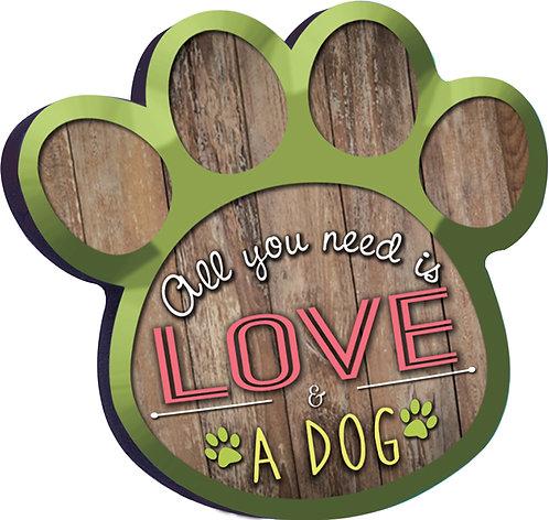 DOG - Wood Magnet