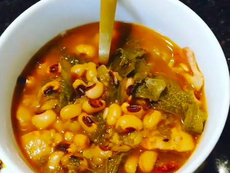 Instant Pot Recipes: Black Eyed Peas + Greens