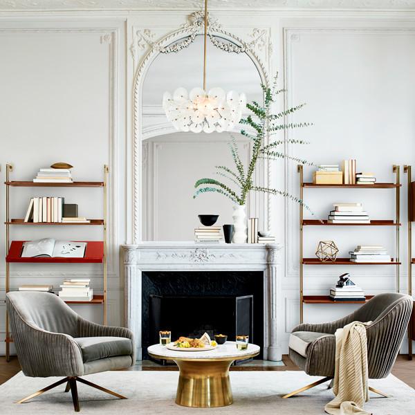 west elm shelves and decor