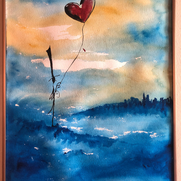 TexasArtists_Watercolors_Illustrations_Blue Heart