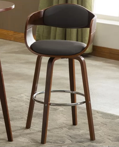 black and walnut kitchen bar stool