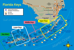 map of the florida keys upper middle lower
