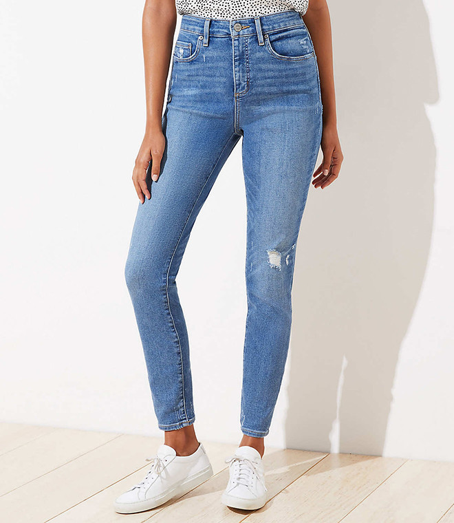 Skinny High Rise light wash Jeans for Spring