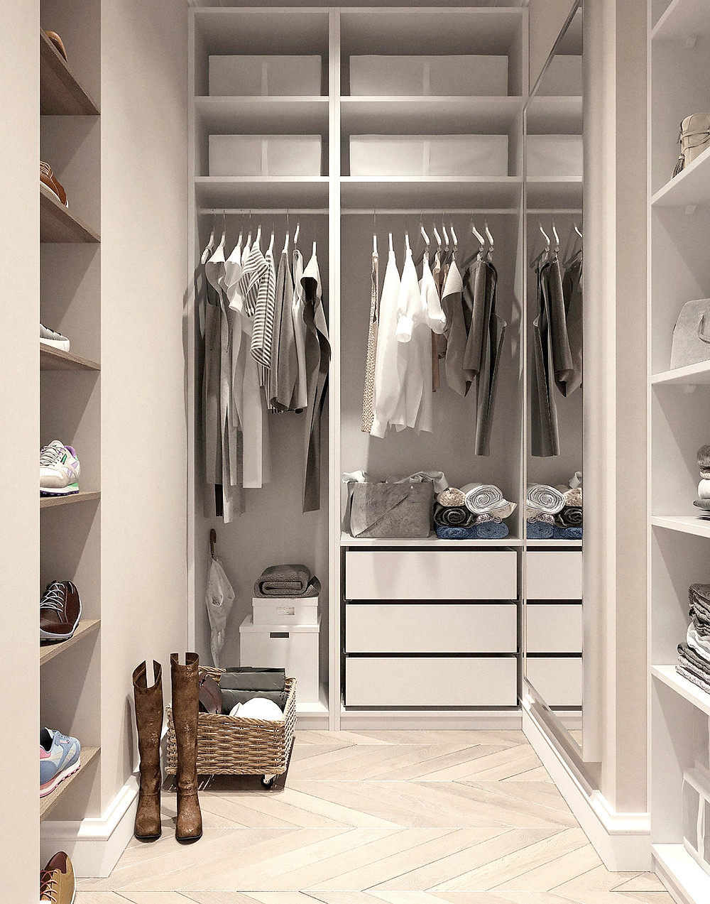 Social Distancing Home Project Ideas - Closet Organization
