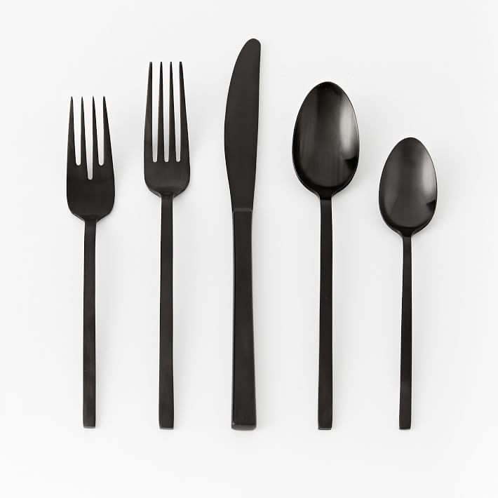 Matte Black Flatware from West Elm 2019