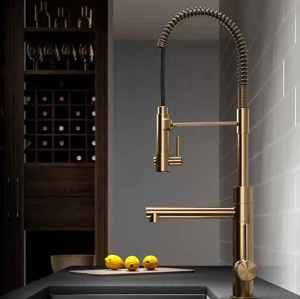 krause gold sprayer industrial kitchen faucet gold hardware