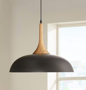 modern wood and aluminum hanging kitchen lamp 2019