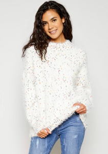 cozy spring fall transition pieces 2019 Funfetti Sweater from Poppy & Stitch