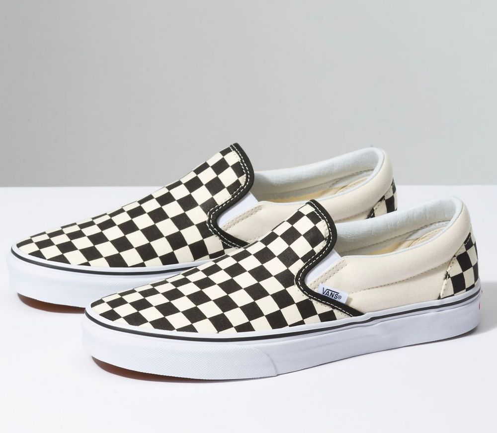 80s sneakers - checkered vans - skate shoes- classic vans
