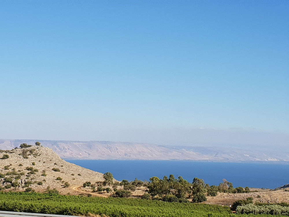 The Sea of Galilee view from the Huquk area