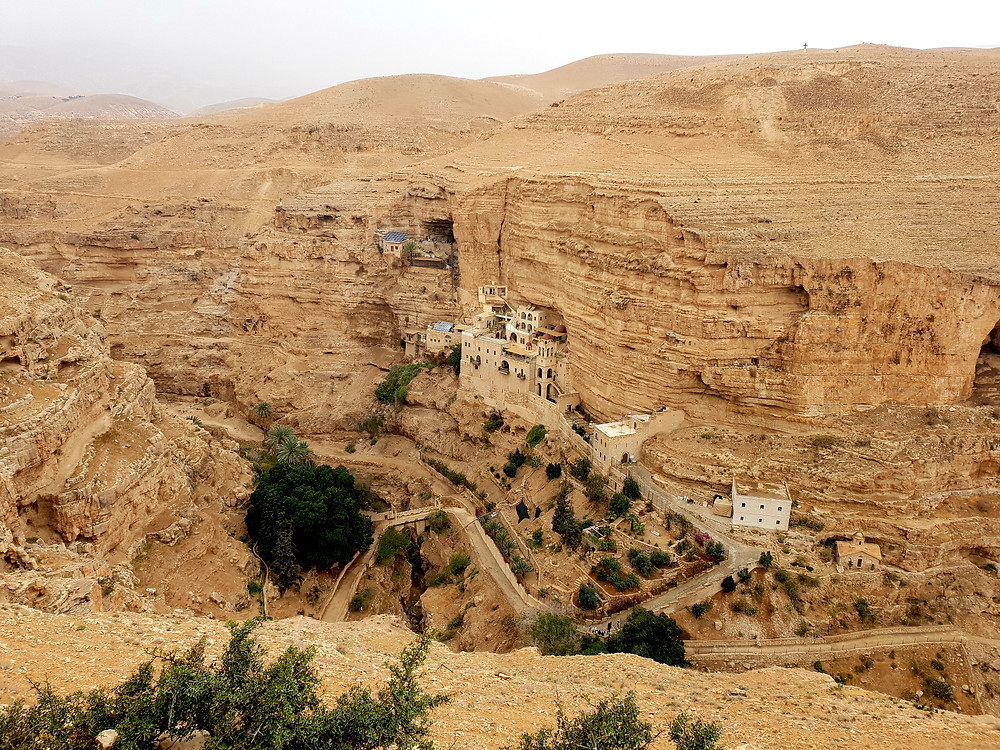 Wadi Qelt is one of the most beautiful places in Israel, and Saint George is one of the most interesting monasteries