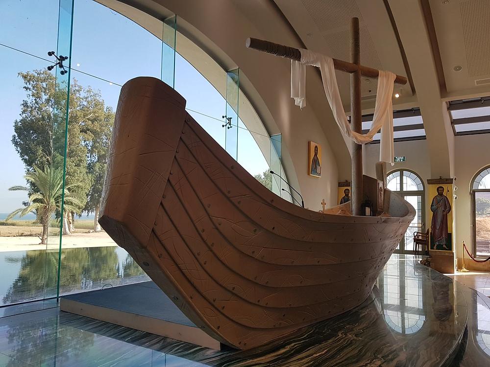 Jesus' Boat as the Altar at Magala' Church