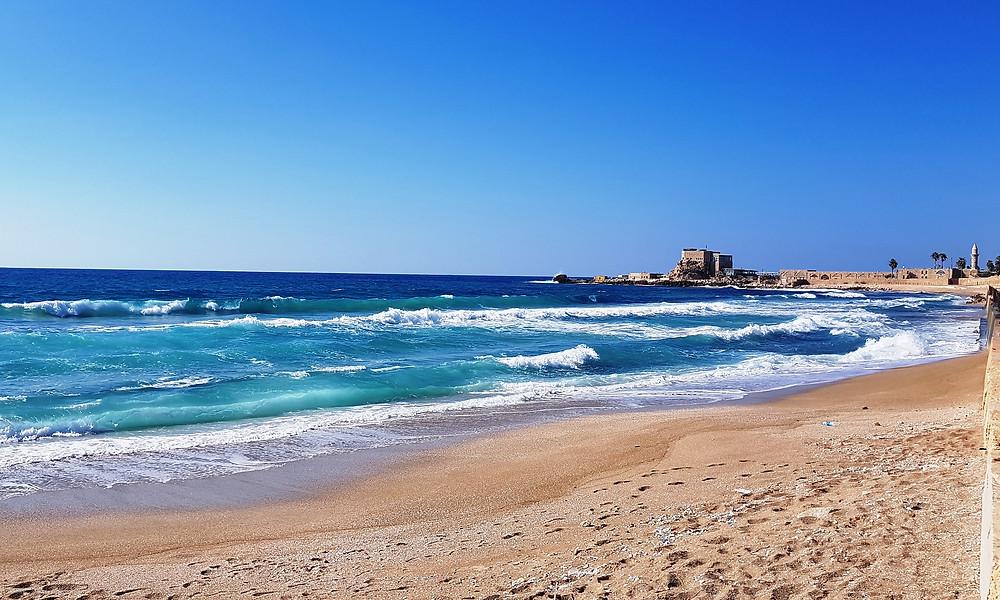Sea at Caesarea