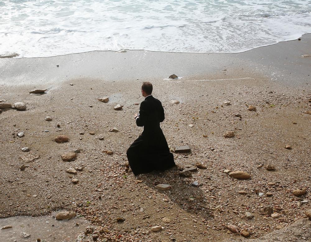 Praying at Caesarea