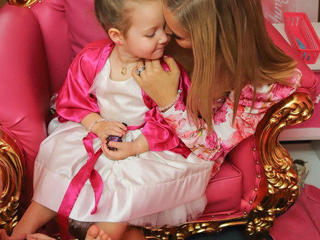 Hannah Polites and Evaliah Rep Sarasvati Jewelry Mummy & Me