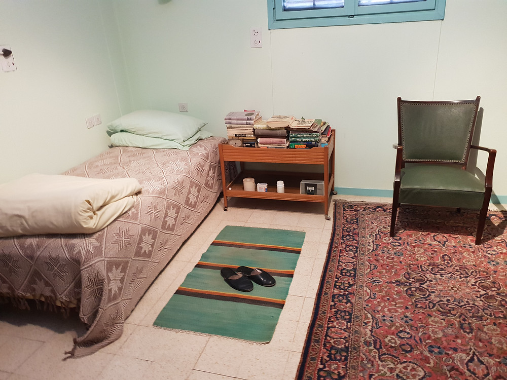 Spartan bedroom of the Father of the Jewish Nation Ben Gurion