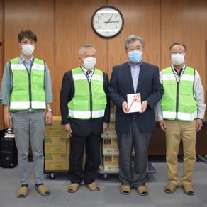 【県央地域部会】医療従事者に飲料水を届けました。