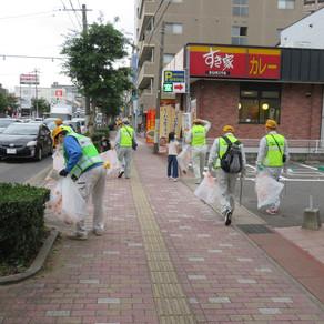 長崎地区で道の見守り活動を行いました。