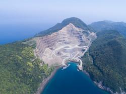 下五島椛島の採石場。
