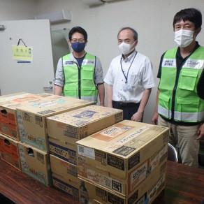 【上五島地域部会】医療従事者に飲料水を届けました。