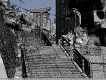 長崎原爆遺跡『山王神社二の鳥居』3Dモデル