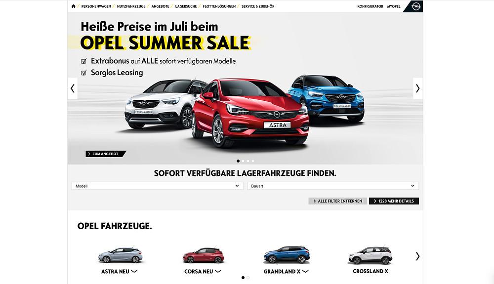 Opel website design