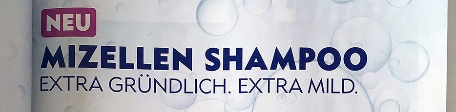 Werbesujet Nivea Mizellen Shampoo
