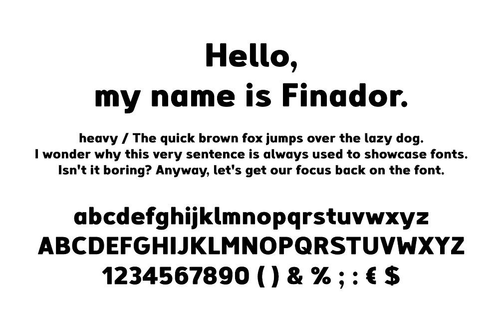 Finador sans serif font