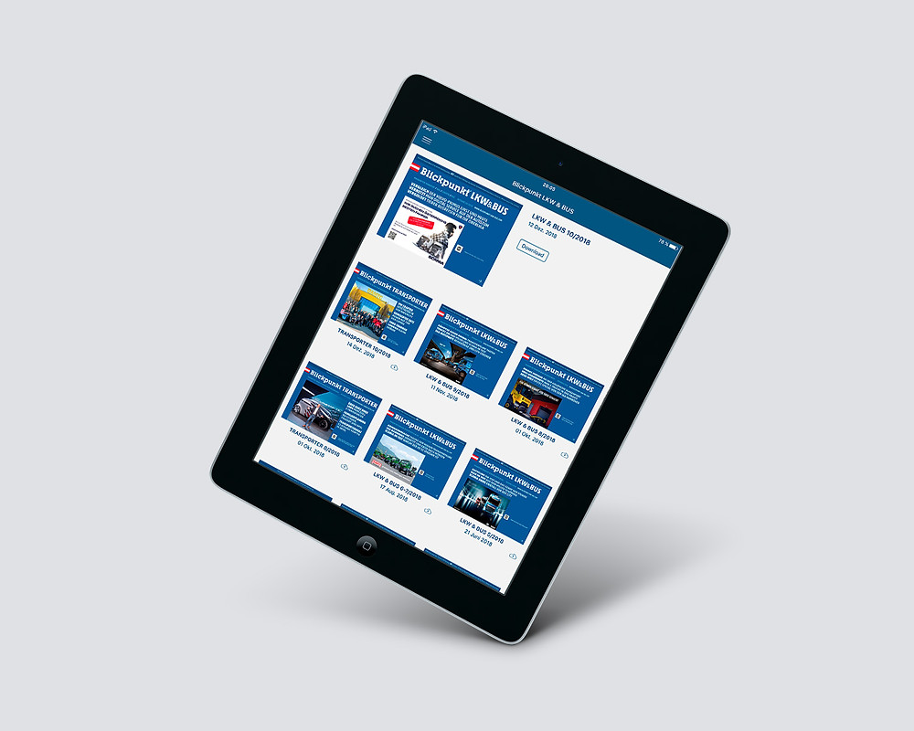 feature app magazine promotion on a tablet