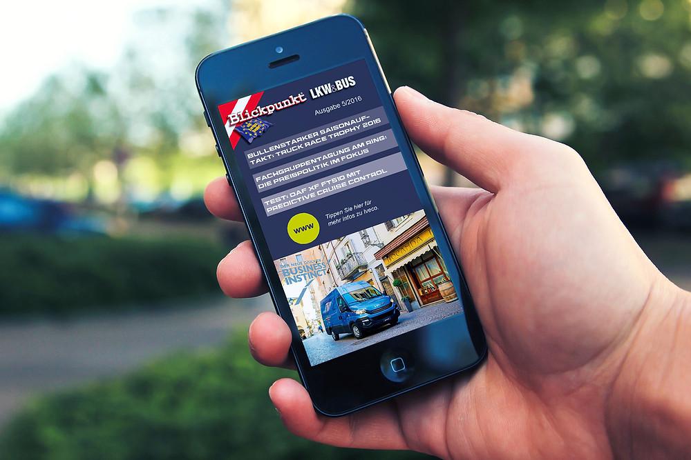 app magazine transport phone