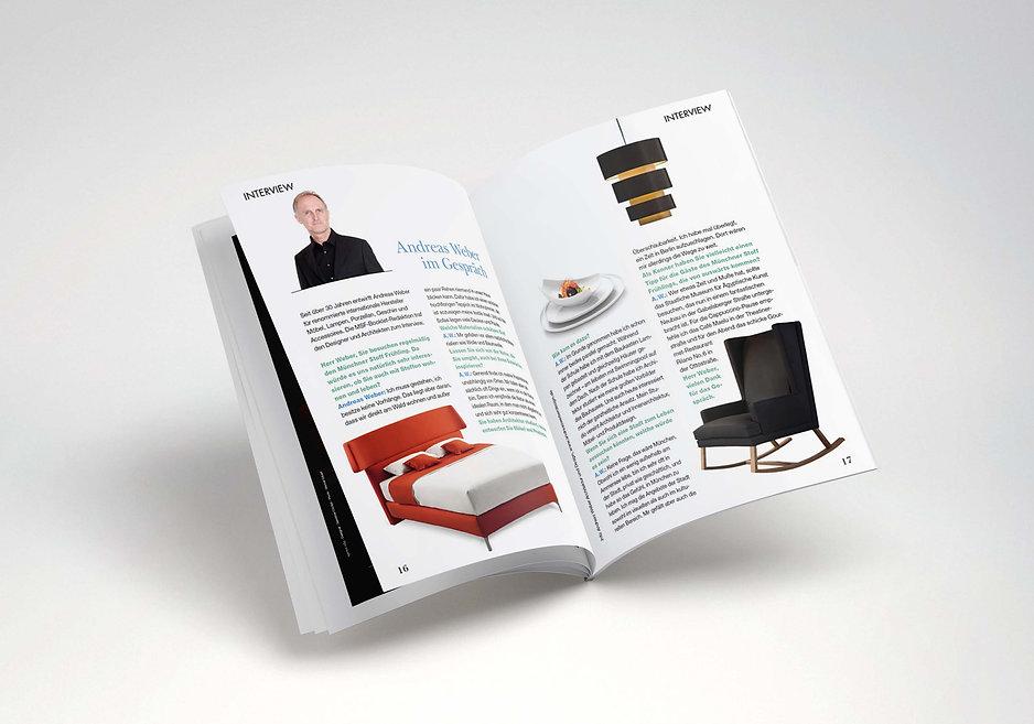 münchner stoff frühling magazine layout design