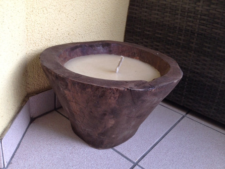 A very special outdoor candle