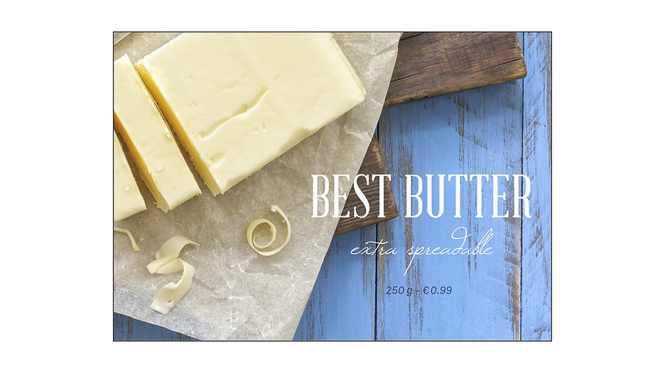 typography gourmet butter