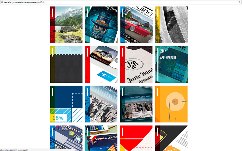 HCG corporate designs card design